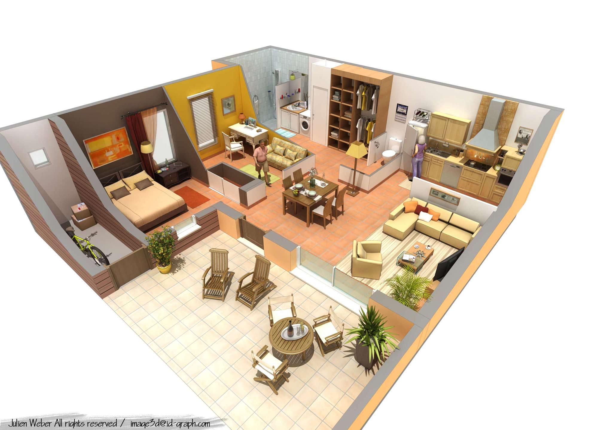 perspective 3d promotion immobilière