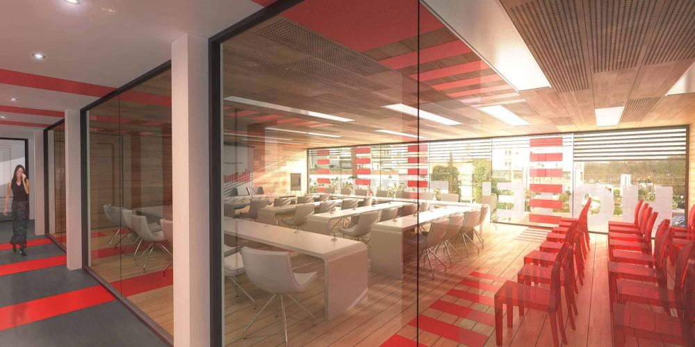 perspective intérieur rendu concours architecture