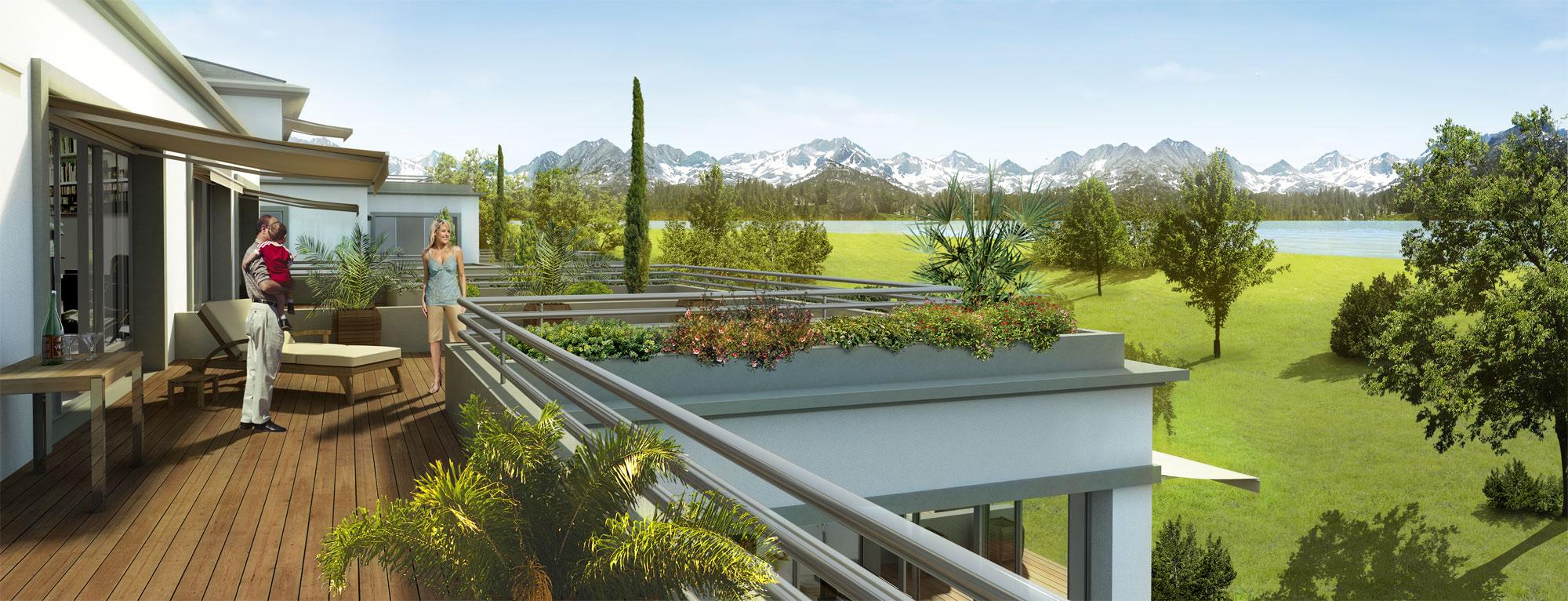 Perspective D Une Villa : Perspective d villa terrasse julien weber