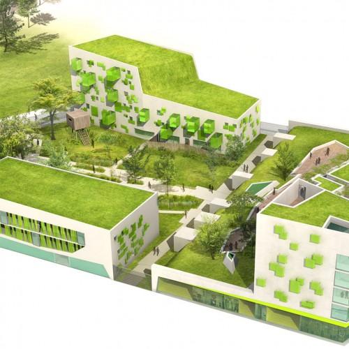 images 3d vue aerienne projet architecture