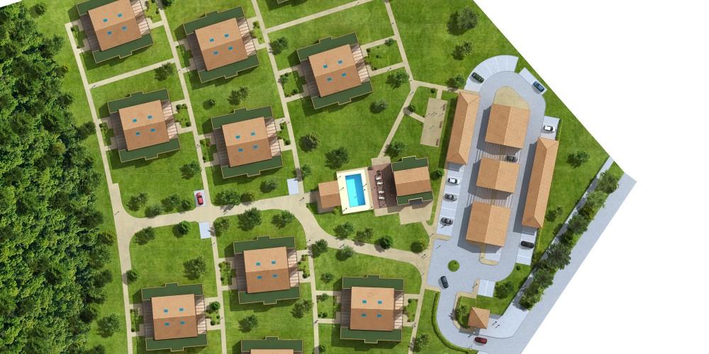 plan masse 3d village vacances bordeaux