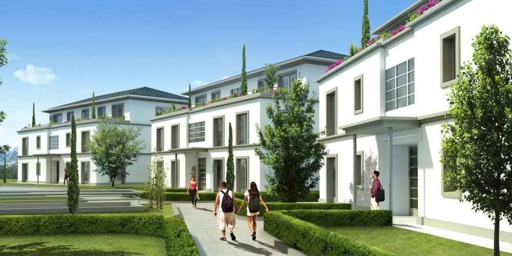 perspective 3d résidence entrée freelance bordeaux